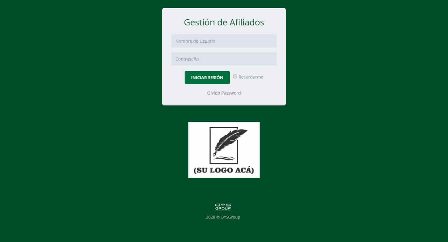 login gestion afiliados